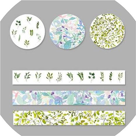 3 Rolls Washi Masking Tape Set Petal Animal Paper DIY Scrapbooking Stickers