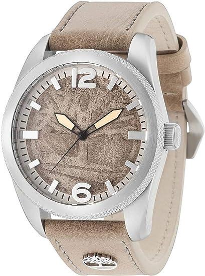 Timberland Reloj Analógico para Hombre de Cuarzo con Correa en Cuero 15034JS/07