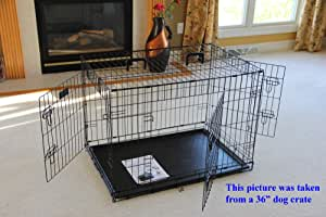 EliteField 3-Door Folding Dog Crate with Rubber FEET, 5 Sizes, 10 Models Available