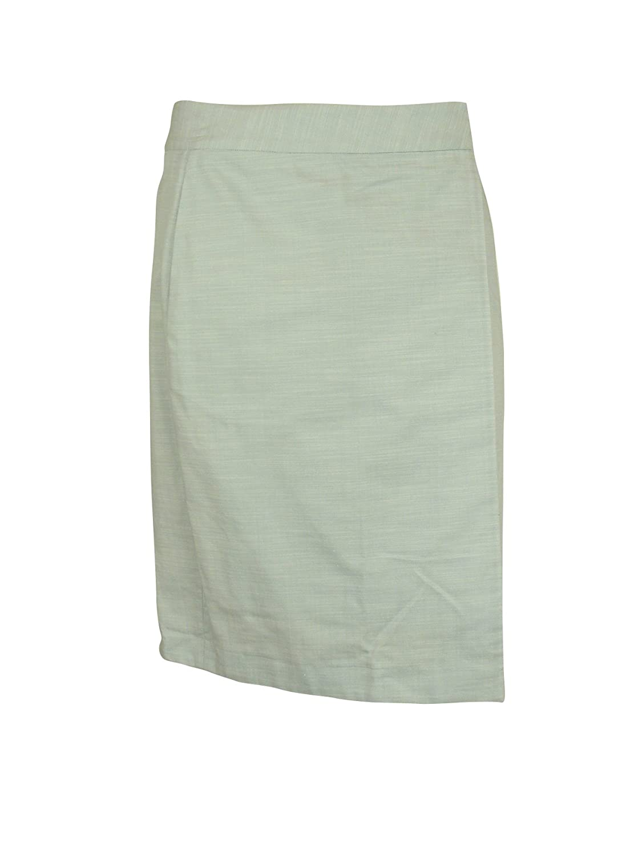 M.Patmos Womens Light Chambray Wrap Button Elastic Back Skirt M