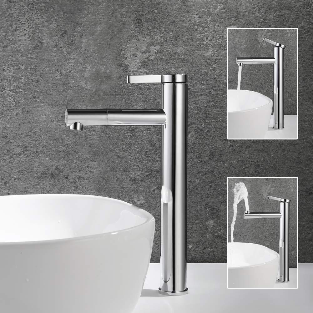 Pop ba/ño grifo grifo ba/ño grifo lavabo ba/ño habitaciones Alto grifo cromo