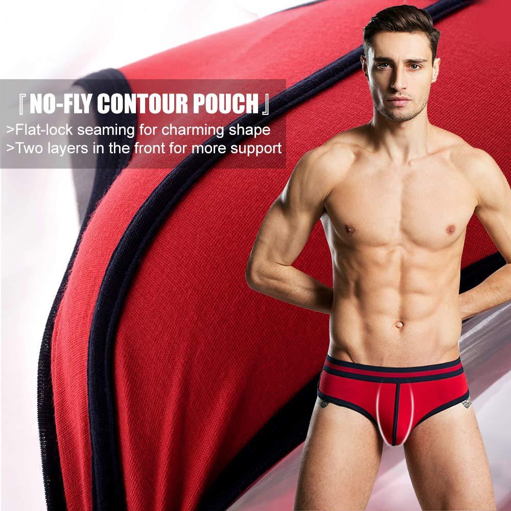MOACC Men\'s Sexy Micro Modal U Convex Pouch Underwear Soft Hip Brief Multi (4pack)