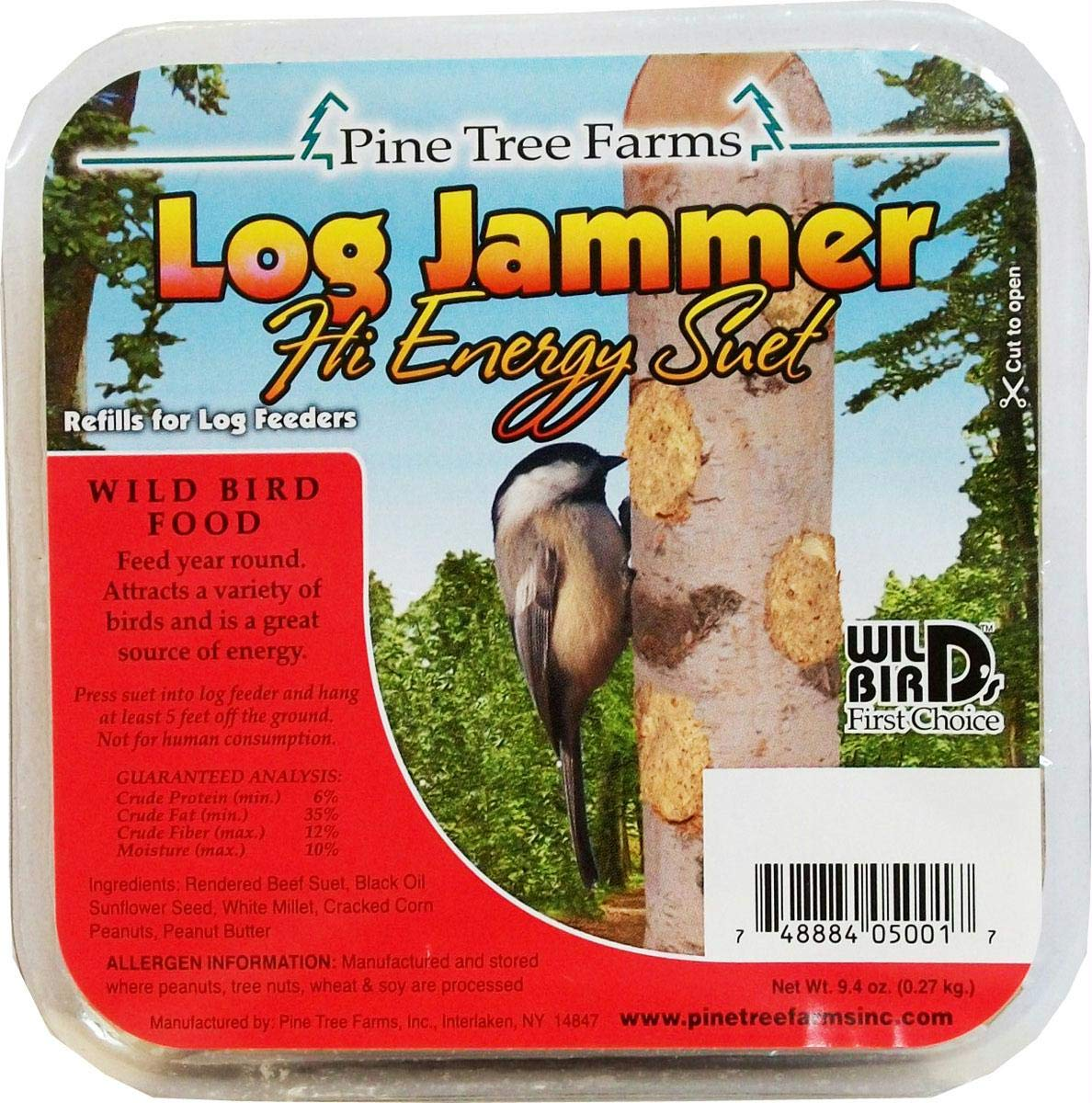 Pine Tree Farms 12 Pack of Log Jammers Hi Energy Suet 3 Refills (36 Plugs Total) 3 by Pine Tree Farms