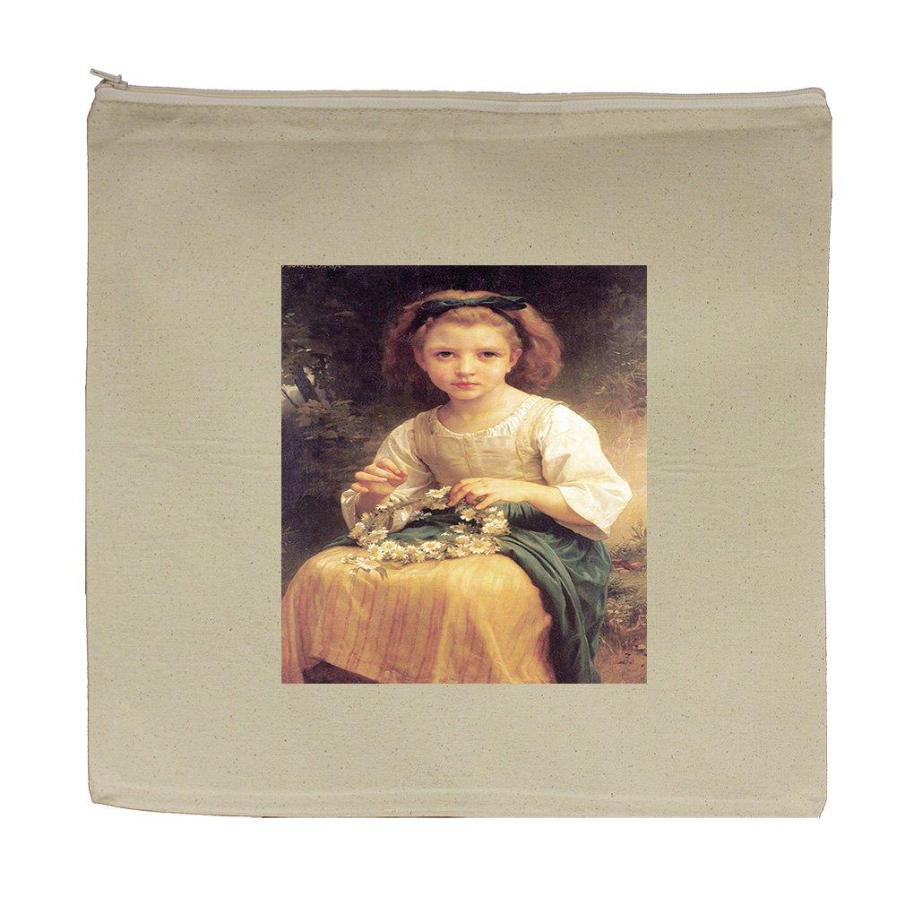 Child Braiding A Crown (Bouguereau) Canvas Zipper Tote Bag Makeup Bag