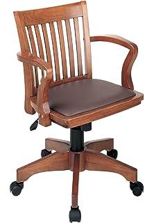 devrik home office desk chair 1. Office Star Deluxe Wood Bankers Desk Chair With Brown Vinyl Padded Seat, Fruit Devrik Home 1 .