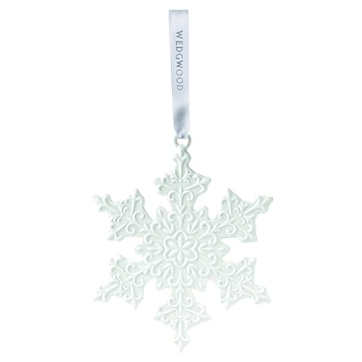 Wedgwood 2016 White Snowflake Momento Christmas Ornament