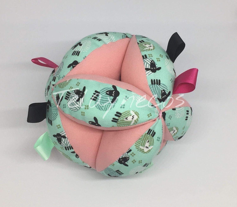 Pelota Montessori ovejas rosa tiras: Amazon.es: Handmade