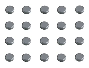 Pack of 20 Black MAUL 20 mm 0.3 kg Maulpro Round Magnet for Whiteboards