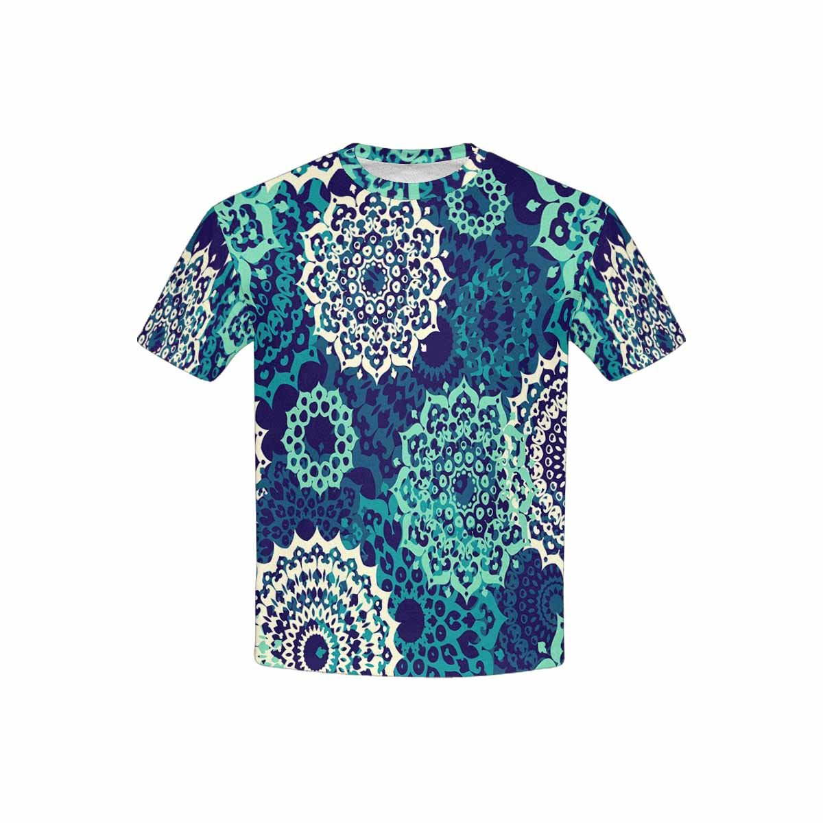 INTERESTPRINT Multicolor Oriental Mandalas Childs T-Shirt XS-XL
