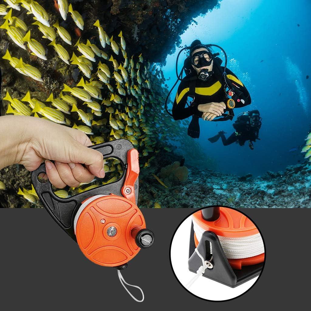 menolana Professional Dive Reel Kayak Anchor /& Plastic Handle 150ft//46m Strong Line for Scuba Diving Snorkeling Underwater Activities Choose Colors