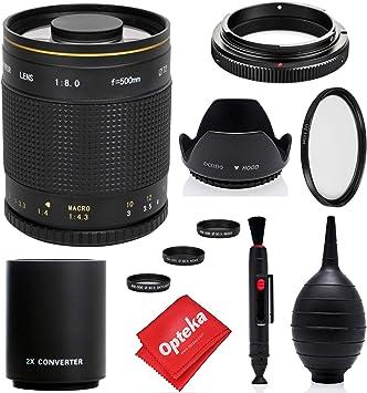 Increíble lente catadióptrico para teleobjetivo de 500 mm/1000 mm ...