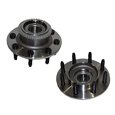 Detroit Axle - Front Wheel Bearing & Hub Assembly Pair for 2WD 2000 2001 2002 Dodge Ram 2500 2WD: Automotive