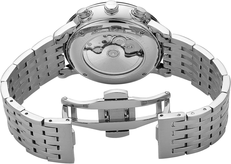 FEICE Montre Automatique Homme Multifonctionnelle Verre Bombé 2.5D Date Mois 24H - FM121 Cadran Noir Bracelet Aicer