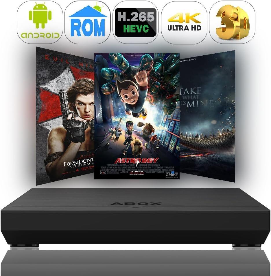 Globmall Android 6.0 Smart TV Box 2GB RAM 8GB ROM, ABOX A1 Plus Amlogic Quad Core 64 Bits CPU Penta-Core GPU HDMI 2.0 4K H.265 WiFi Set Top Box: Amazon.es: Electrónica