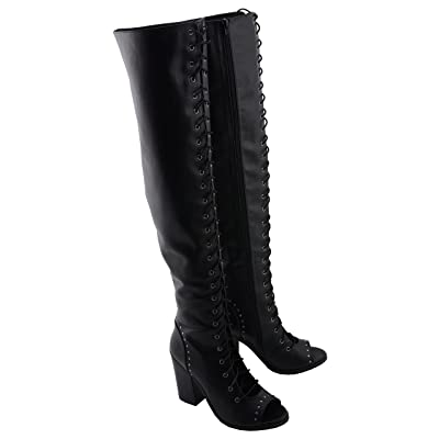 Milwaukee Performance Women's Lace Front Knee High Boot (Black, 11): Automotive