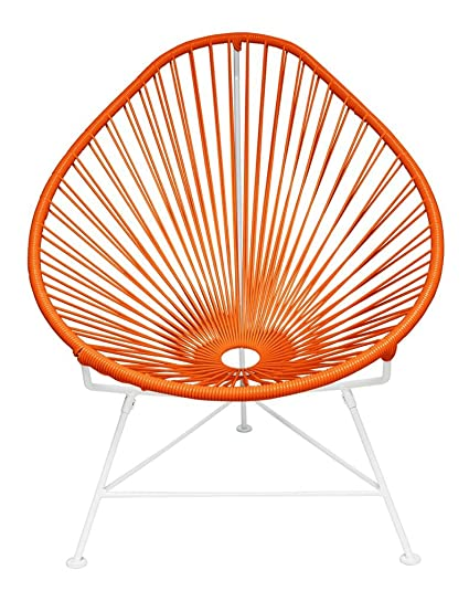 Ordinaire Innit Designs Baby Acapulco Chair, Orange Weave On White Frame