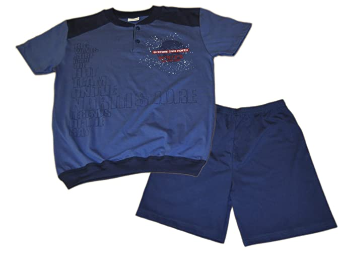 Mondo Blu - Pijama 28-6041 para Chico, 100% algodón, Manga Corta