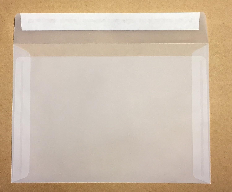 Haftklebestreifen 75 St/ück C6 = 162 x 114 mm Transparente Kuverts