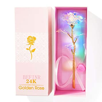 Amazon.com: Befinr 24K -Flores coloridas flores artificiales ...