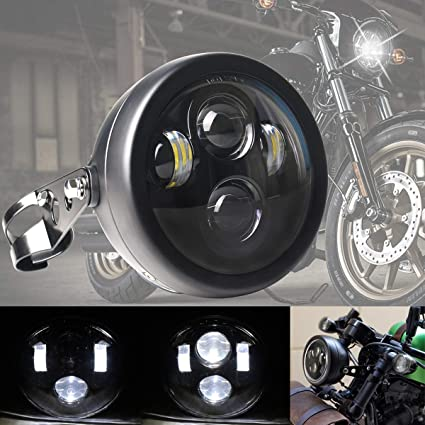 7 inch Chrome Headlight for Choppers Customs British and Cafe Racers Motorcycle
