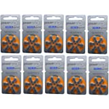 PowerOne Hearing Aid Batteries Size 13-10 Packs of 6 Cells