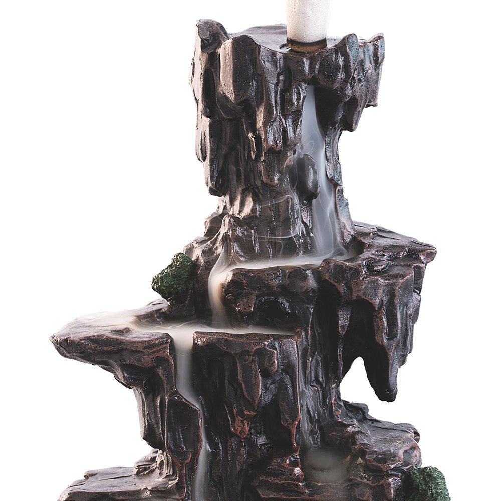 con effetto di flusso inverso del fumo in ceramica Portaincenso a forma di drago con 10/coni Multi ZINGYOU