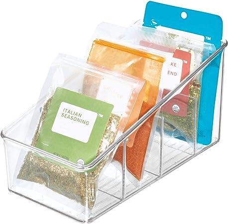 iDesign Caja transparente con 4 compartimentos, organizador de ...
