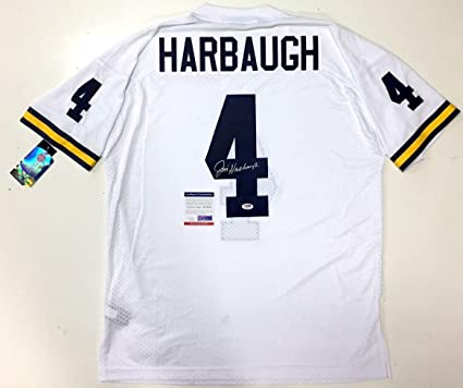 Jim Harbaugh Signed Jersey - Road White Adidas Coa - PSA DNA Certified - 5 0eb3705c6