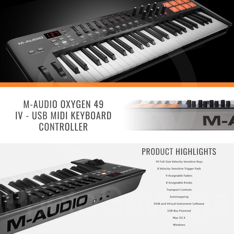 M-Audio Oxygen 49 MKIV Reviews - 49-Key USB MIDI Keyboard 2
