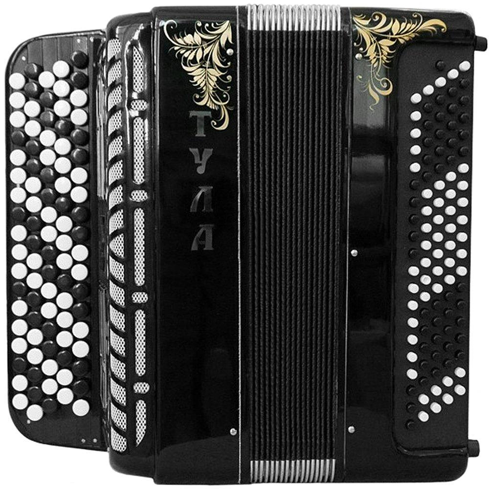 Brand New 5 Rows Bayan Tula 209 B-system Stradella, Russian Chromatic Button Accordion, High-class Musical Instrument, Bn-49-3, 5 Row 100 Bass by Tulskaya Garmon