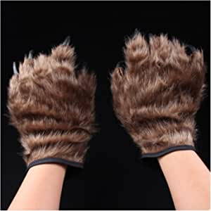 primerry Halloween Decorations Props Tricky Realistic Bear's paw Gloves