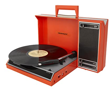Crosley CR6016A-RE Spinnerette Portable USB Turntable with Software for Ripping and Editing Audio, Red