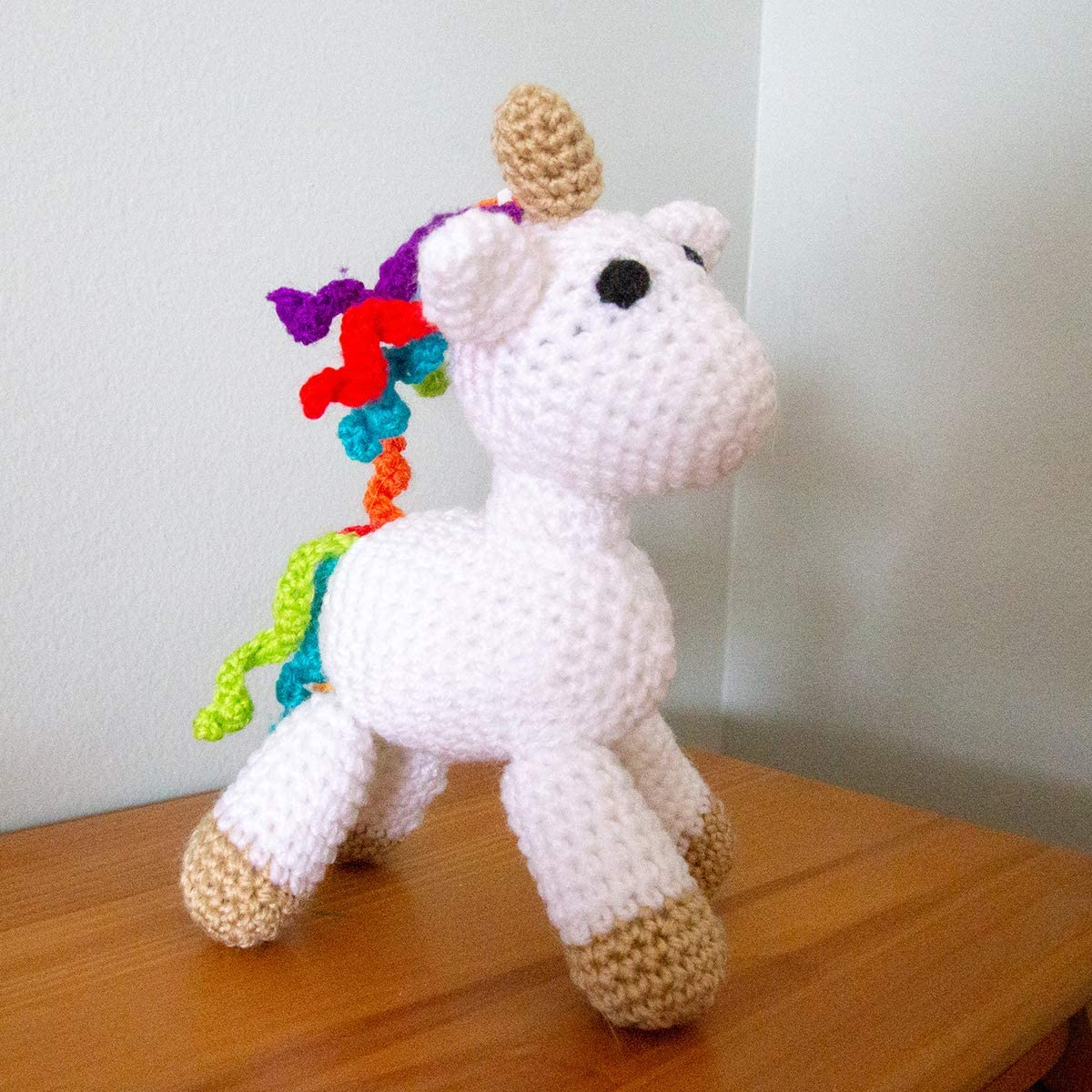 Kit to Make One Mini Crochet Unicorn for Adults /& Older Kids
