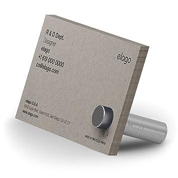 Elago Support Magntique En Aluminium Pour Cartes De Visite Et P Os Argent