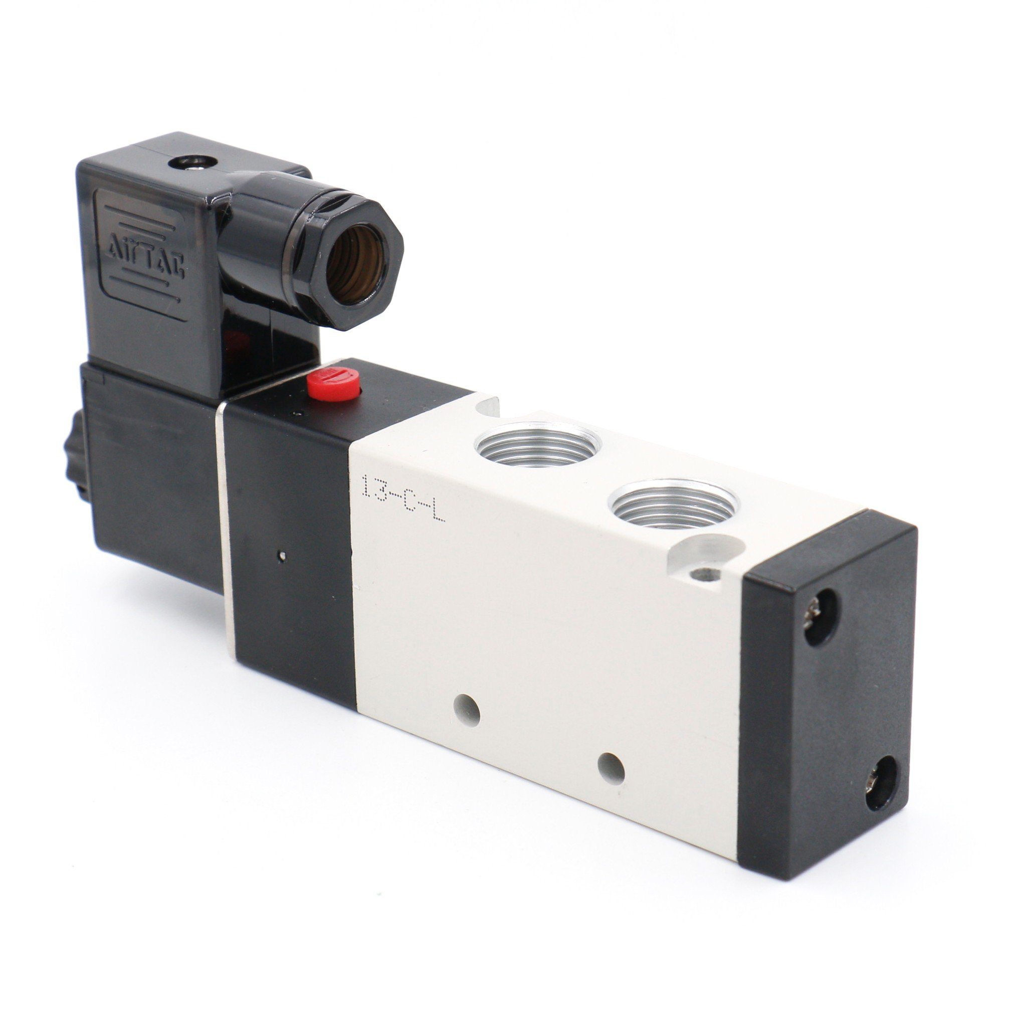 Baomain Pneumatic Solenoid Air Valve 4V310-10 AC110V 5 Way 2 Position PT3//8 Internally Piloted Acting Type Single Electrical Control AirTac 4V310-10-110VAC