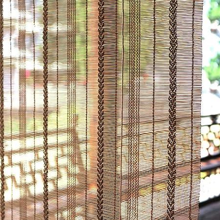 Persiana de bambú Patio Al Aire Libre Parasol Persiana con Accesorios, Exterior Roll Up Persianas para La Cubierta del Patio Trasero Porche Pergola Balcón, 85cm / 105cm / 125cm / 145cm Ancho: