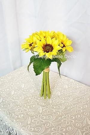 Sweet Home Deco En Soie Fleur De Tournesol Bouquet De Fleurs Bouquet