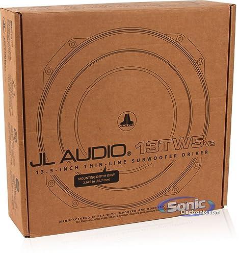 "JL Audio 13TW5V2-2 13.5"" 2-Ohm 600W Shallow Mount Car Subwoofer"