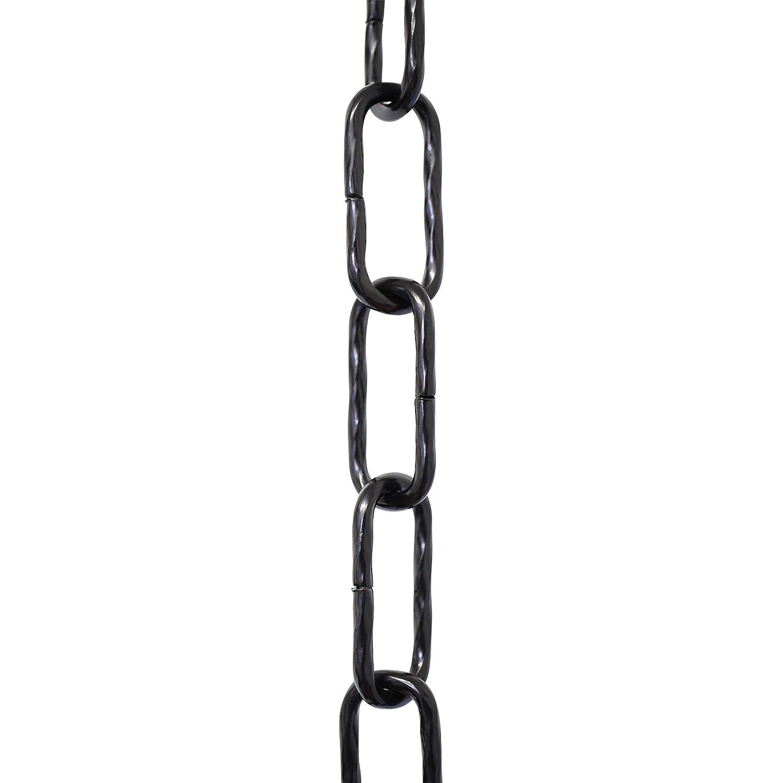 10 Feet Black RCH Hardware CH-S61-40-BLK-10 Steel Chandelier Chain