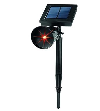 EASYmaxx Solar Lichtpunktstrahler Rot 09982 | LED | Solar | Spot | Garten |  Strahler