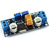 DZS Elec DC-DC Step-down Constant Current Regulator Module 4-38v Input to 1.25-36v Output Adjustable Large Power 5A 75W Converter for Charging or LED Driver Module