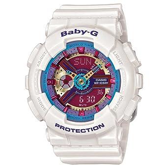ffe9361362159 Amazon.com  Casio Baby-G Multicolor Dial White Resin Multi Quartz Ladies  Watch BA112-7A  Casio  Watches