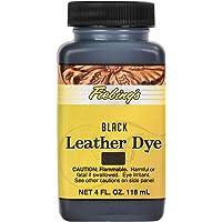 Fiebing's Leather Dye Alcohol-Based Dries Uniformly Polish Shine Color Black 4oz
