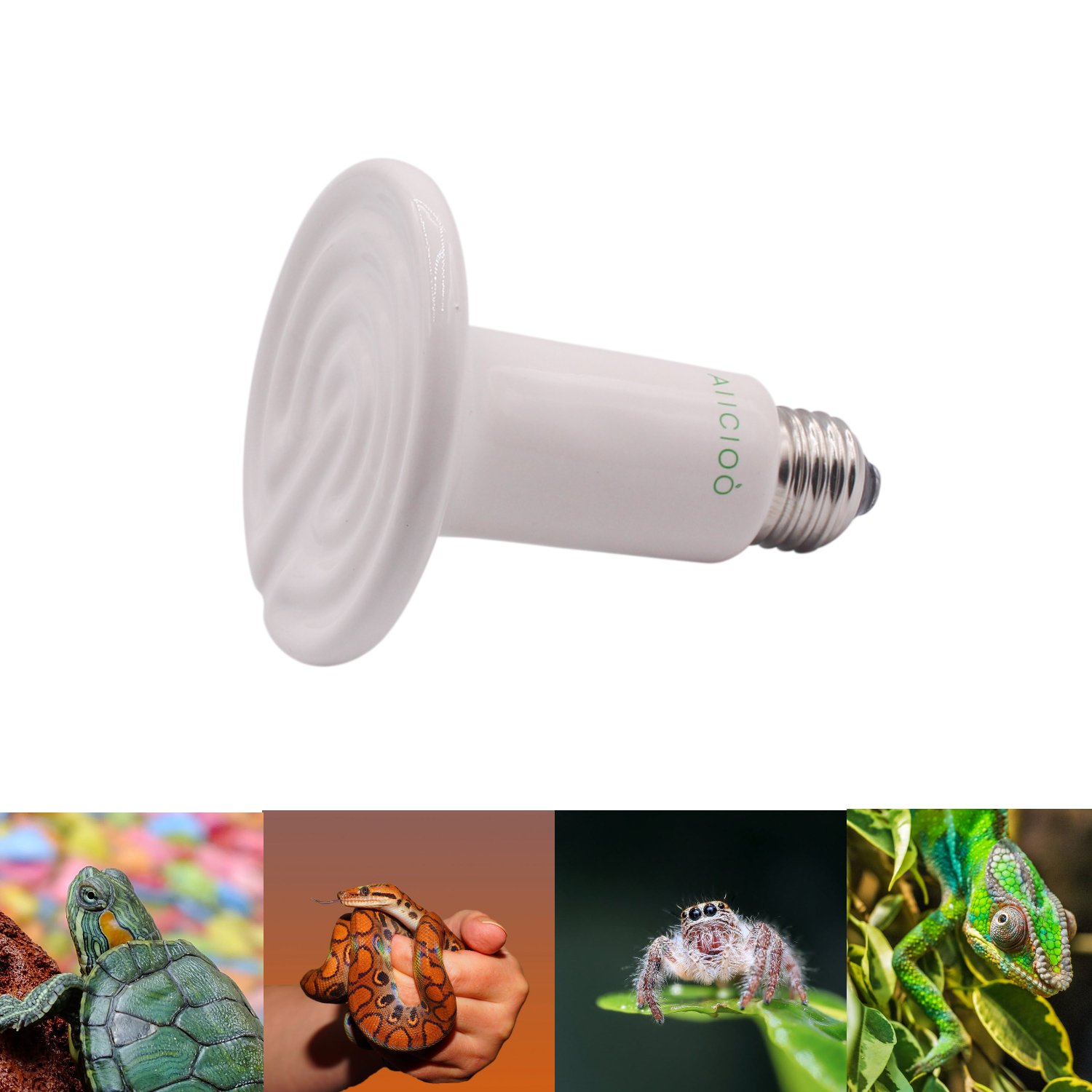 Galleon Aiicioo Reptile Heat Lamp Bulb 60w Ceramic