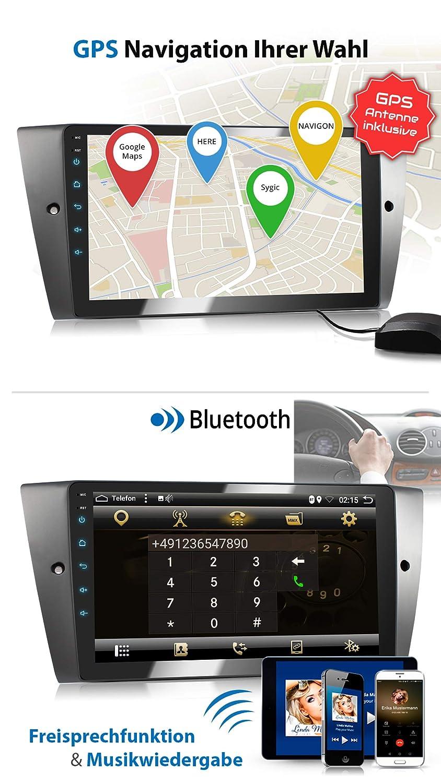 WLAN 32GB ROM I Navigation GPS I Support WiFi 4G XOMAX XM-90BA Autoradio avec Android 8.1 appropri/é pour 3er BMW OBD2 I Bluetooth I /Écran Tactile 9 I USB 3G 2GB RAM 8 Core Dab+