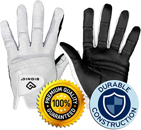Bionic Gloves RELAXGRIP 2.0 Guante de Golf, Hombre, Blanco, Mens ...