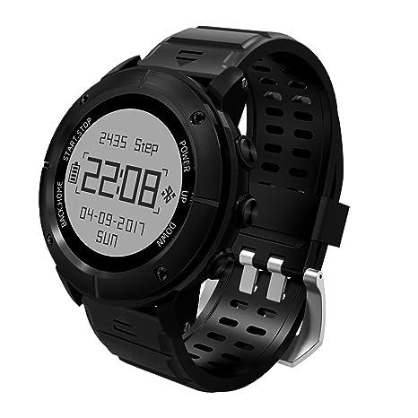 GPS senderismo reloj inteligente, reabeam, Adventurer deportes al aire libre resistente al agua reloj, seguimiento de modo multifunción, para correr ...