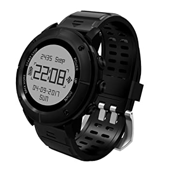 GPS senderismo reloj inteligente, reabeam, Adventurer deportes al aire libre resistente al agua reloj