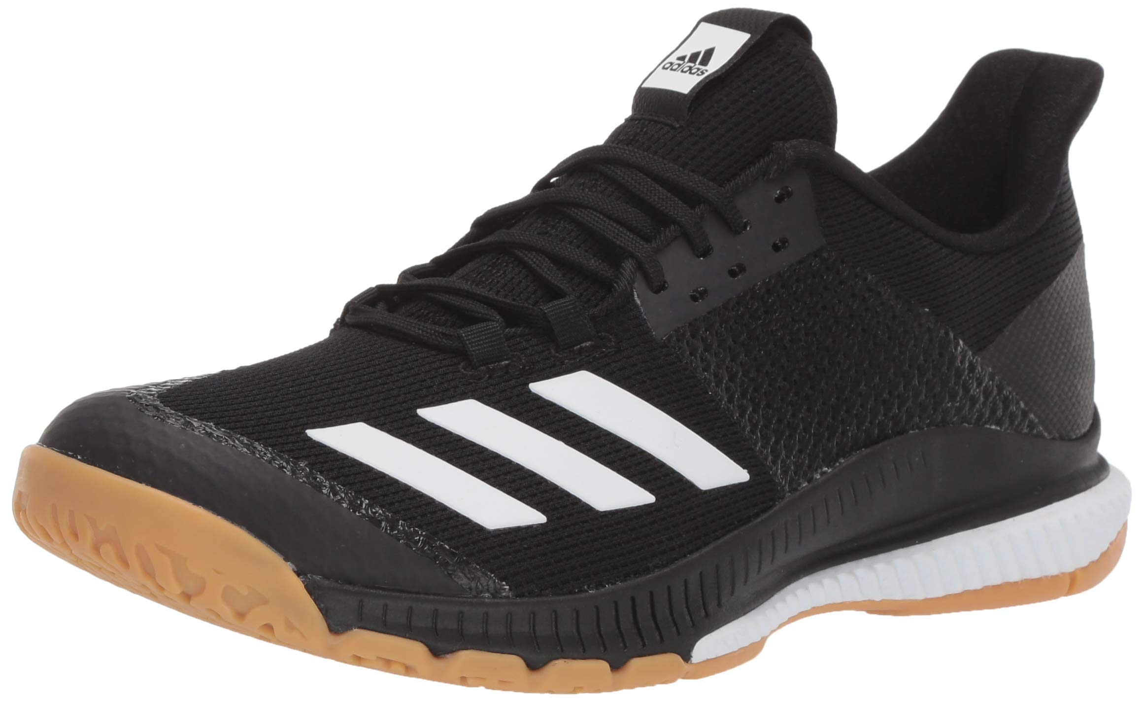 adidas Women's Crazyflight Bounce 3 Volleyball Shoe, Black/White/Gum, 5 M US