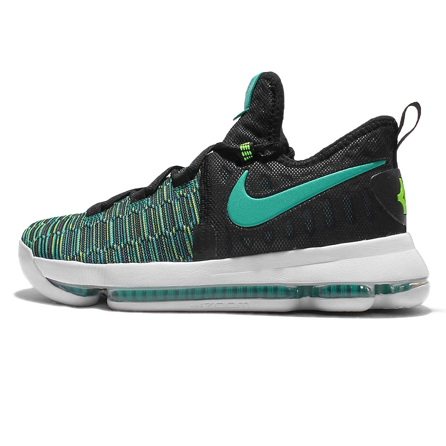 best website 58f3a 8bc73 Amazon.com   Nike Kids Zoom KD9 GS, Black Clear Jade, Youth Size 6    Basketball